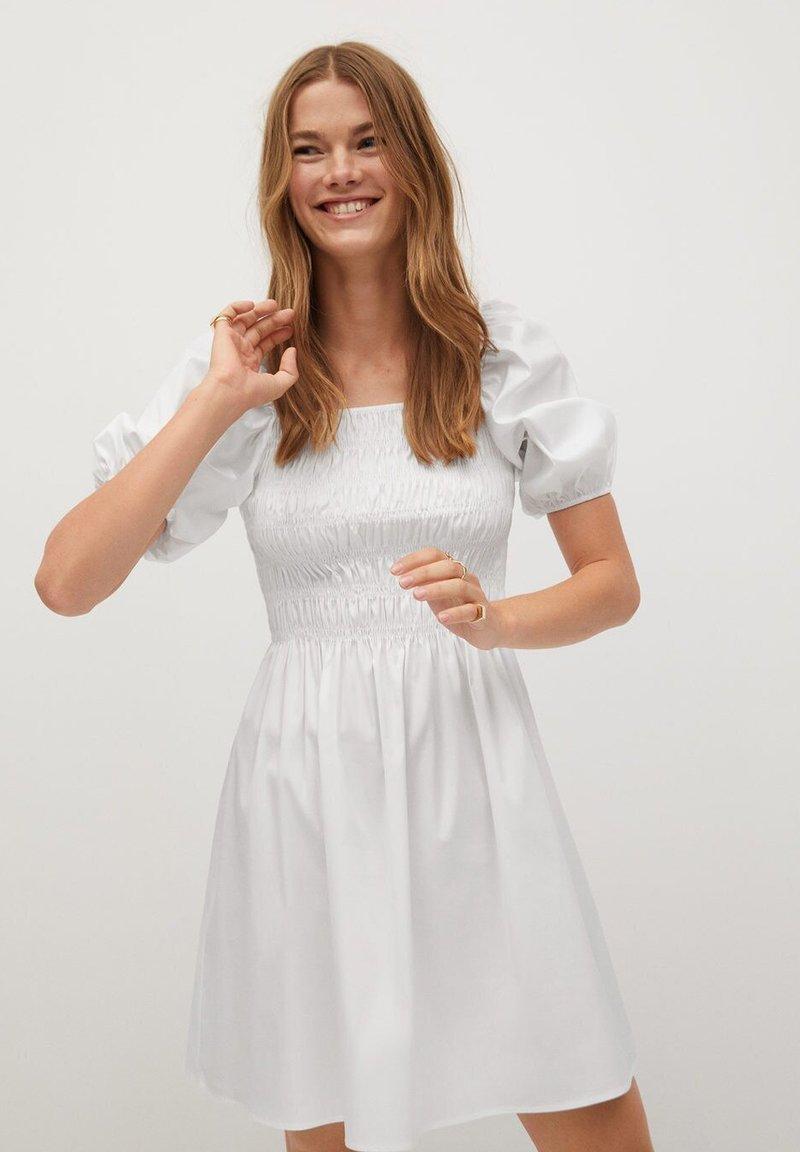 Mango - BEATRIZ - Korte jurk - blanc cassé