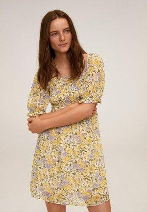 NICOLE - Korte jurk - råhvid