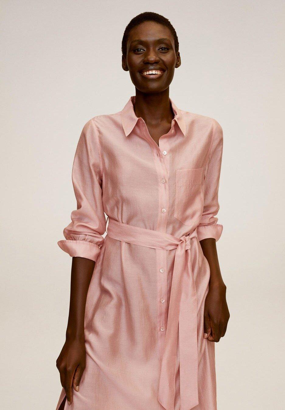 Mango BOBO Robe chemise rosa ZALANDO.FR