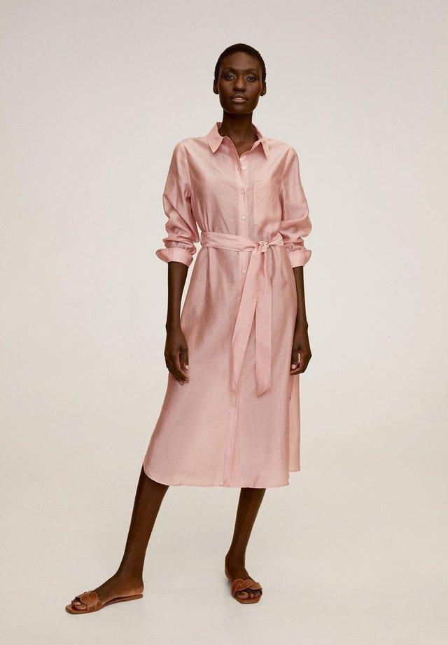 ALEX - Robe chemise - rose clair