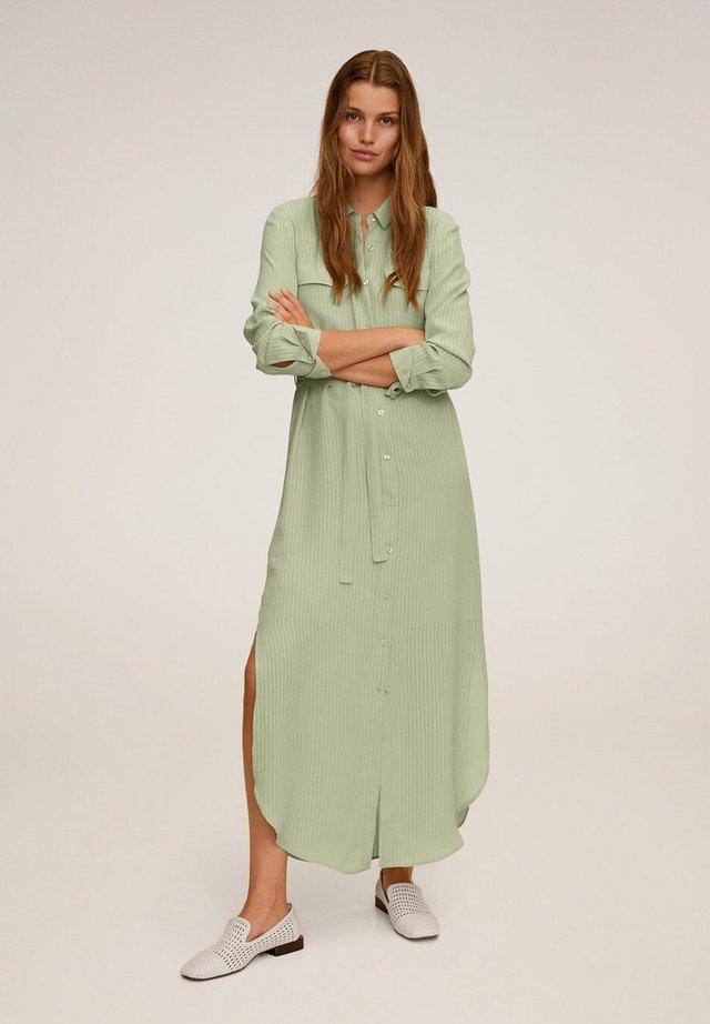 NINGBOX-I - Skjortekjole - pastellgrün