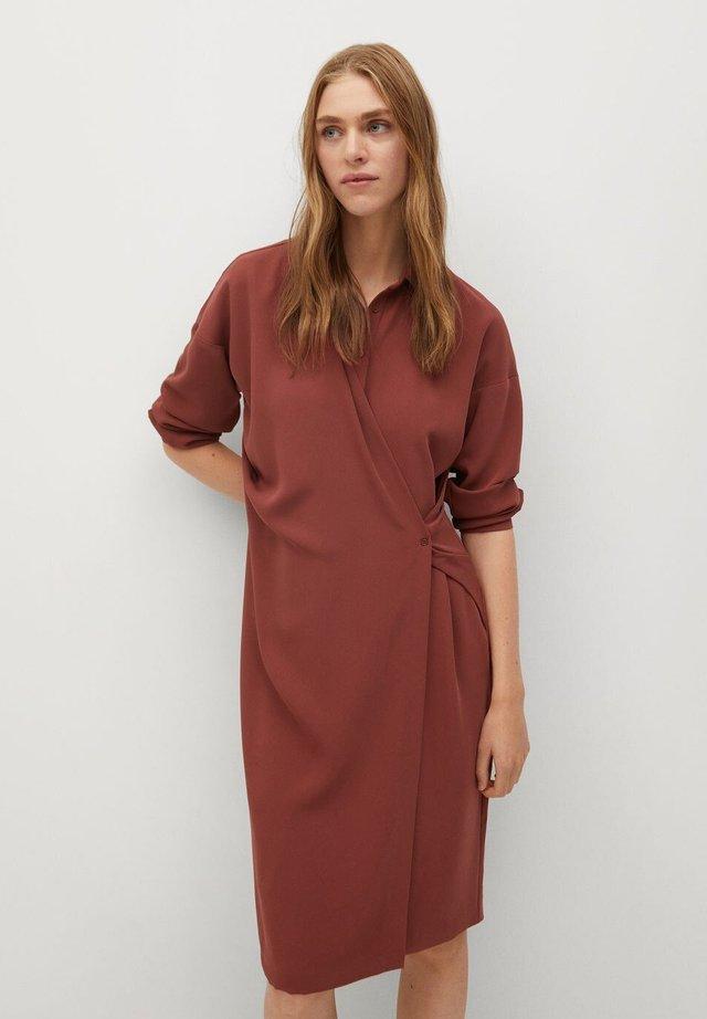 ARES-I - Shirt dress - bräunliches orange