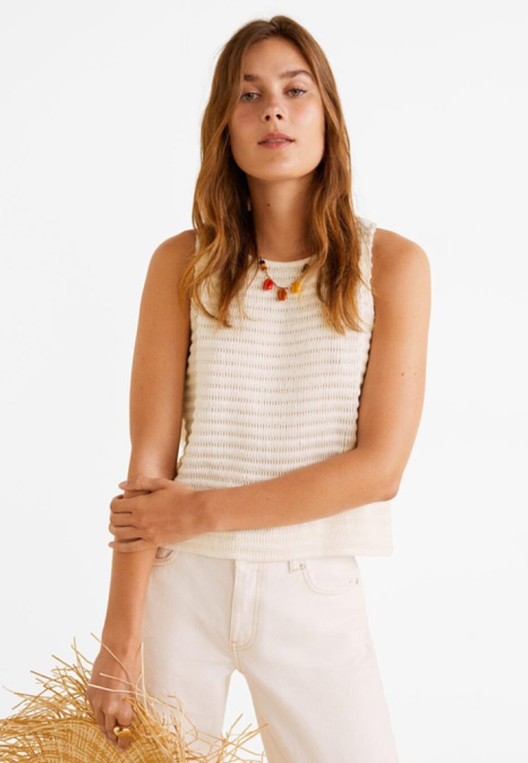Mango - OTTIE - Top - off white