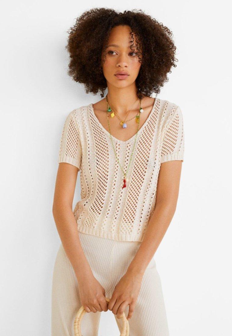 Mango - HEAVEN - T-Shirt print - beige