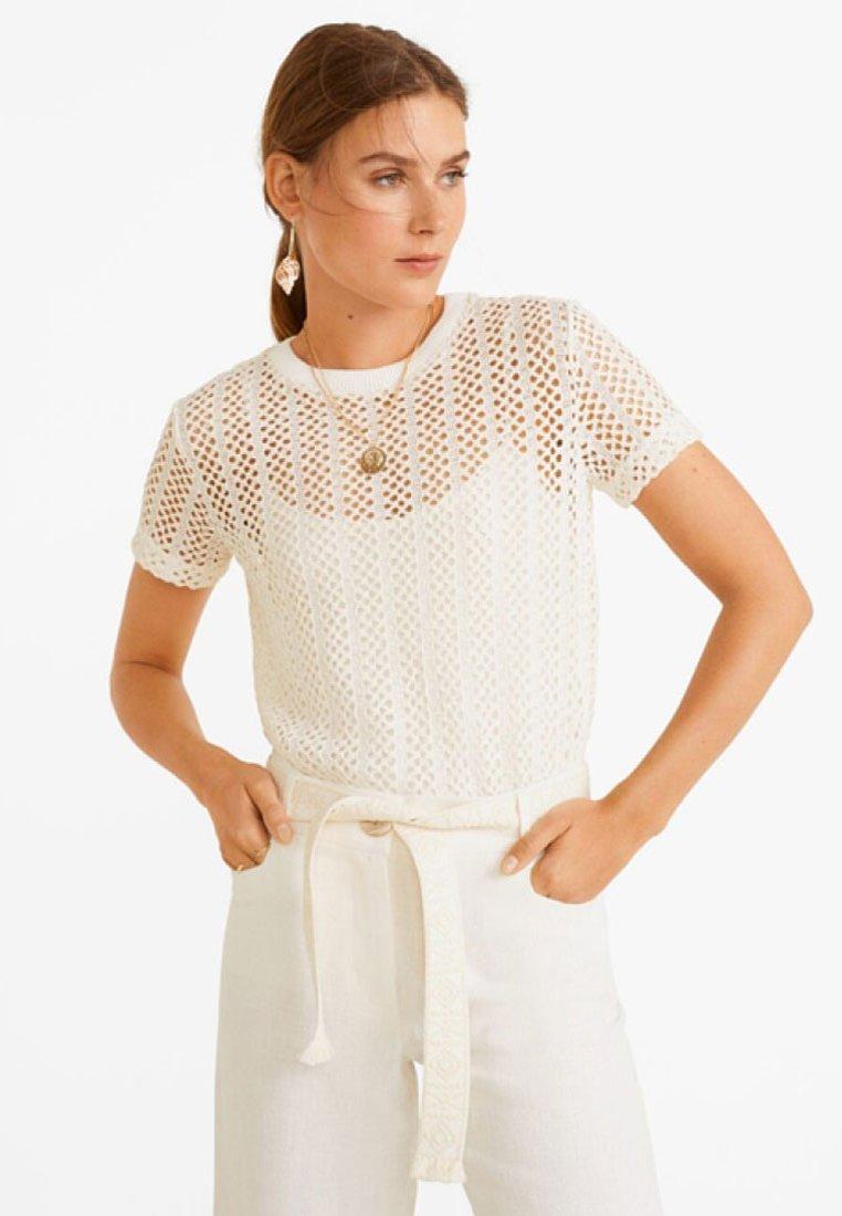 Mango - CALAR - T-Shirt print - beige
