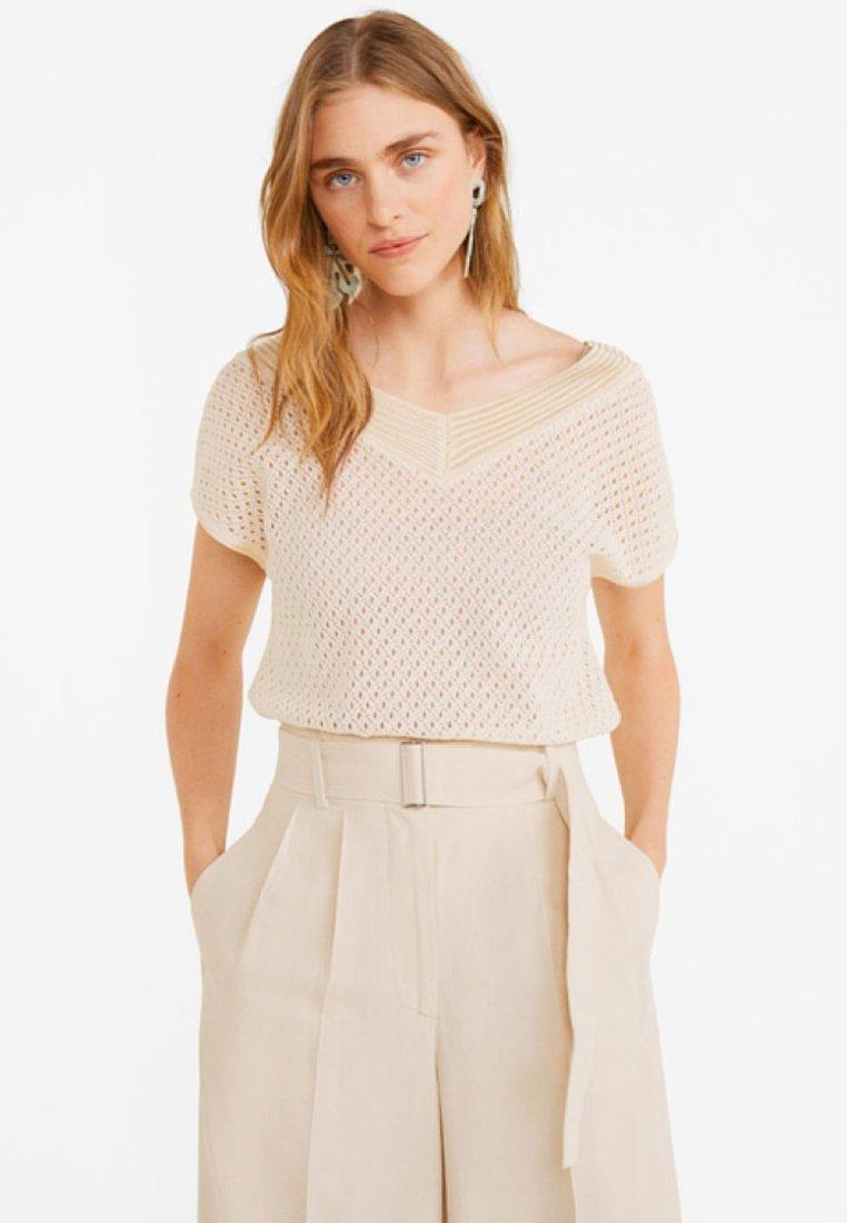 Mango - REJA - T-Shirt print - beige