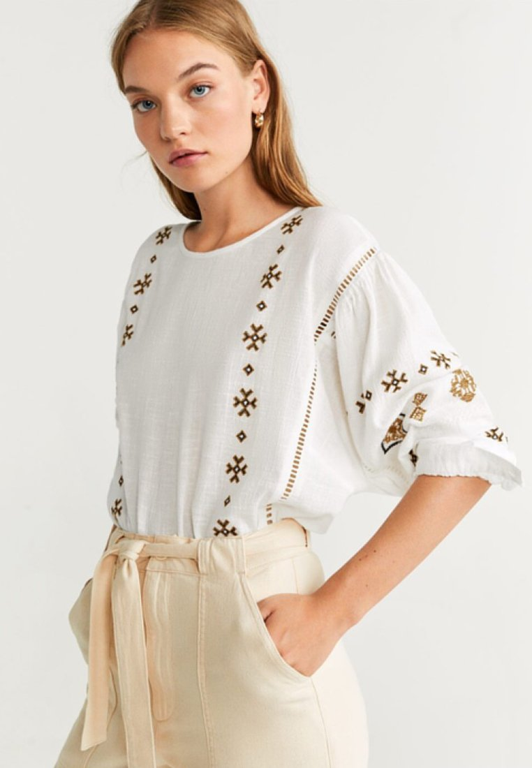 Mango - CURRY - Bluse - off-white