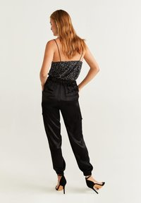 Mango - SEQUIN - Top - black - 2