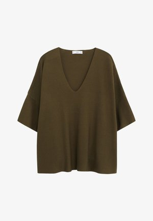 INES - T-shirt basique - kaki