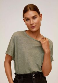 Mango - LICROP - T-shirt basic - bosgroen - 0