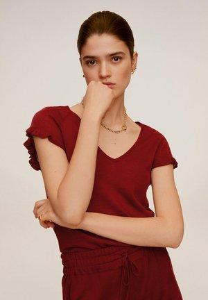 LINEN - T-shirt print - rot