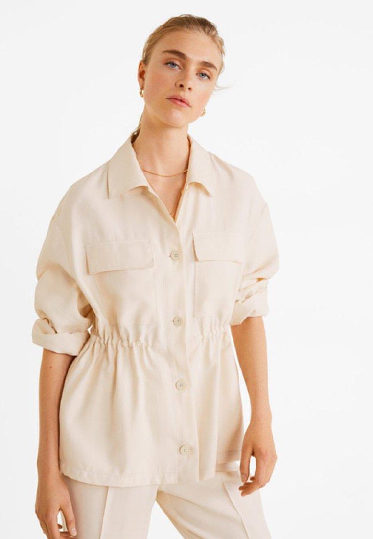 Mango - JAIPUR - Button-down blouse - beige