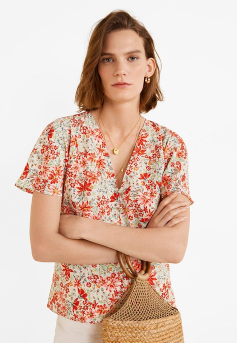 Mango - CORAL - Blouse - coral red