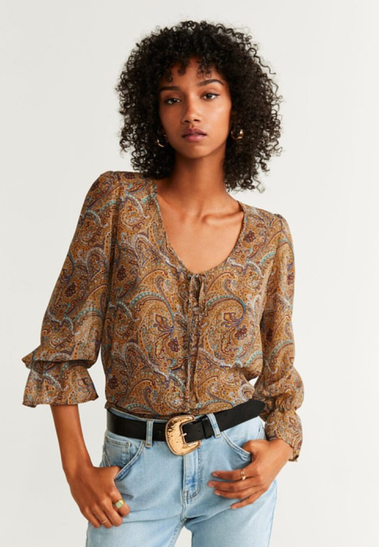 Mango - BOHO - Bluse - brown