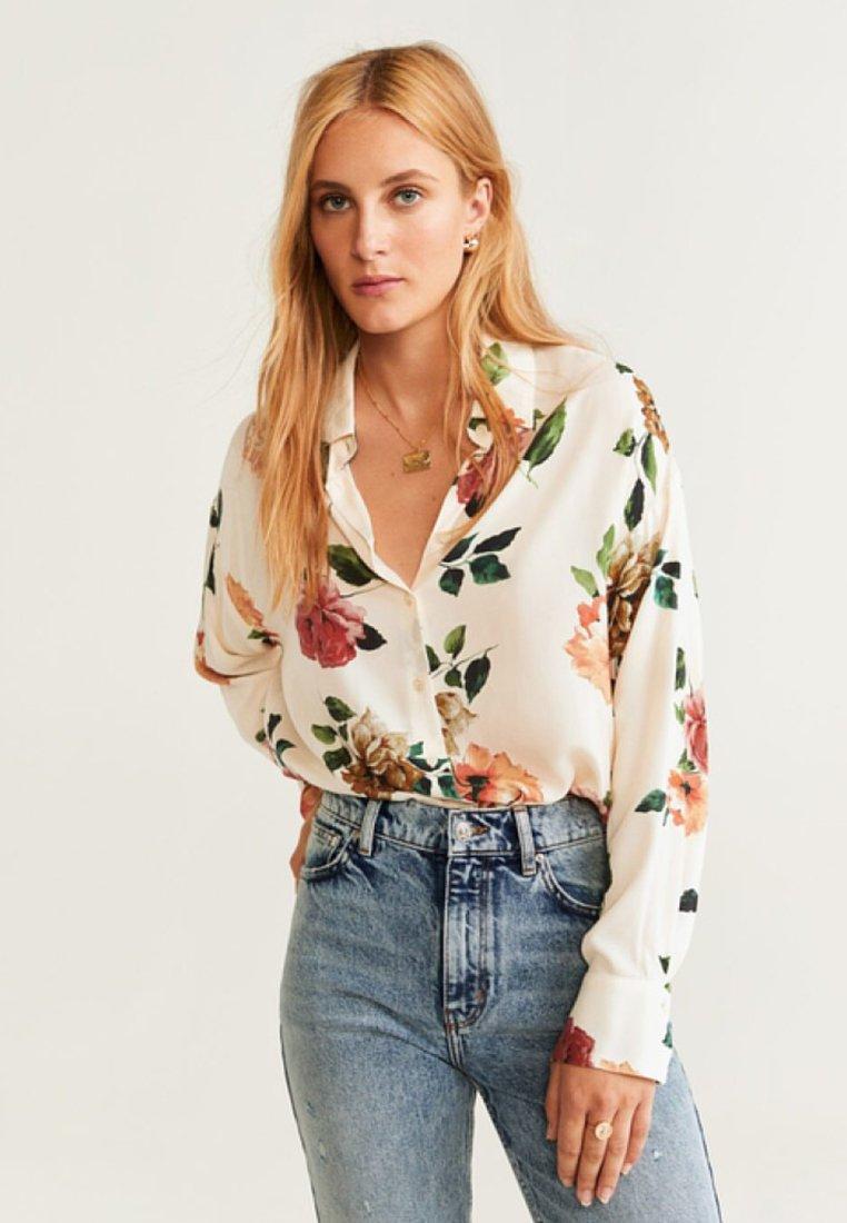 Mango - DELO - Button-down blouse - cream white