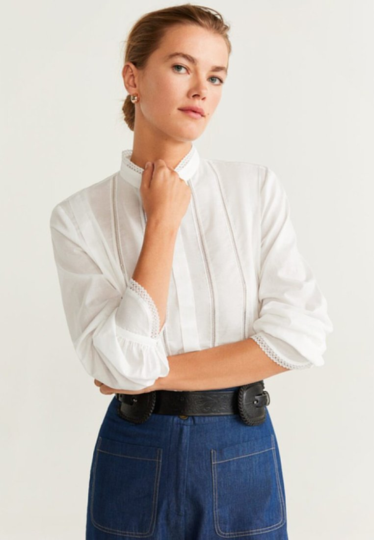 Mango - CECI - Button-down blouse - offwhite