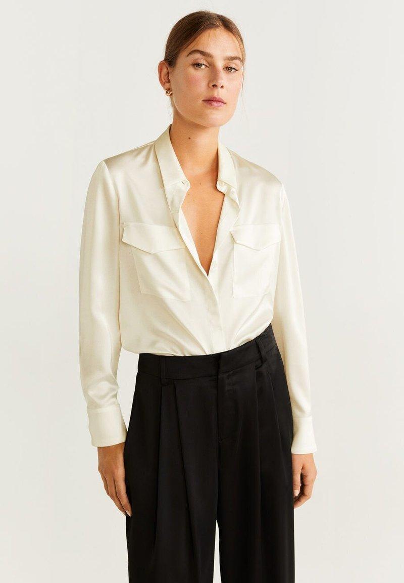 Mango - AMAZONA-A - Button-down blouse - offwhite