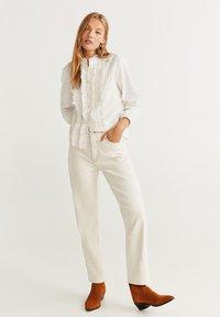 Mango - TASHI - Button-down blouse - Cream white - 1