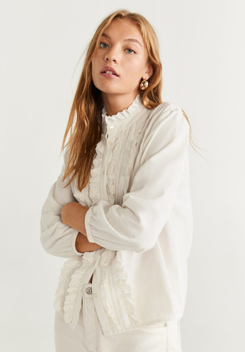 Mango - TASHI - Button-down blouse - Cream white