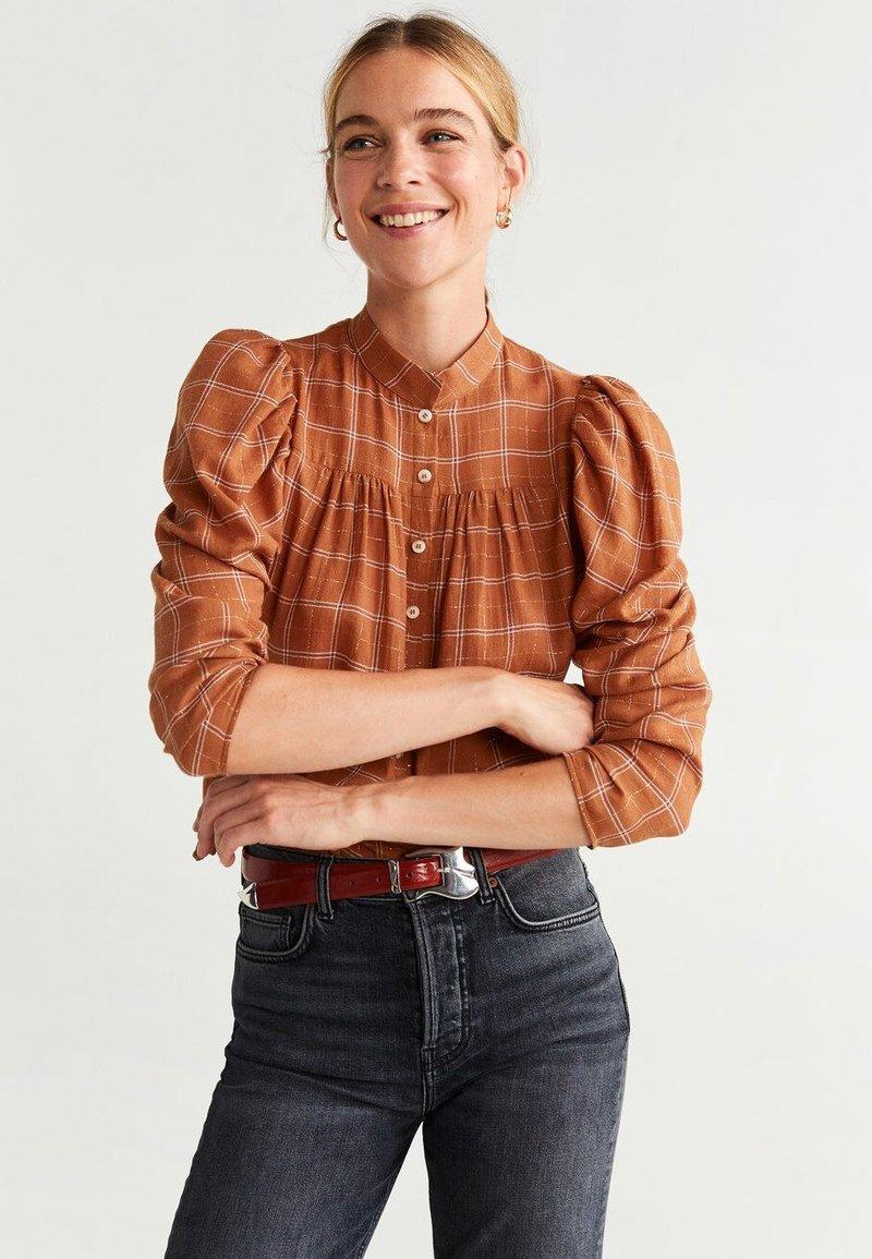 Mango - LICOLY - Button-down blouse - orange