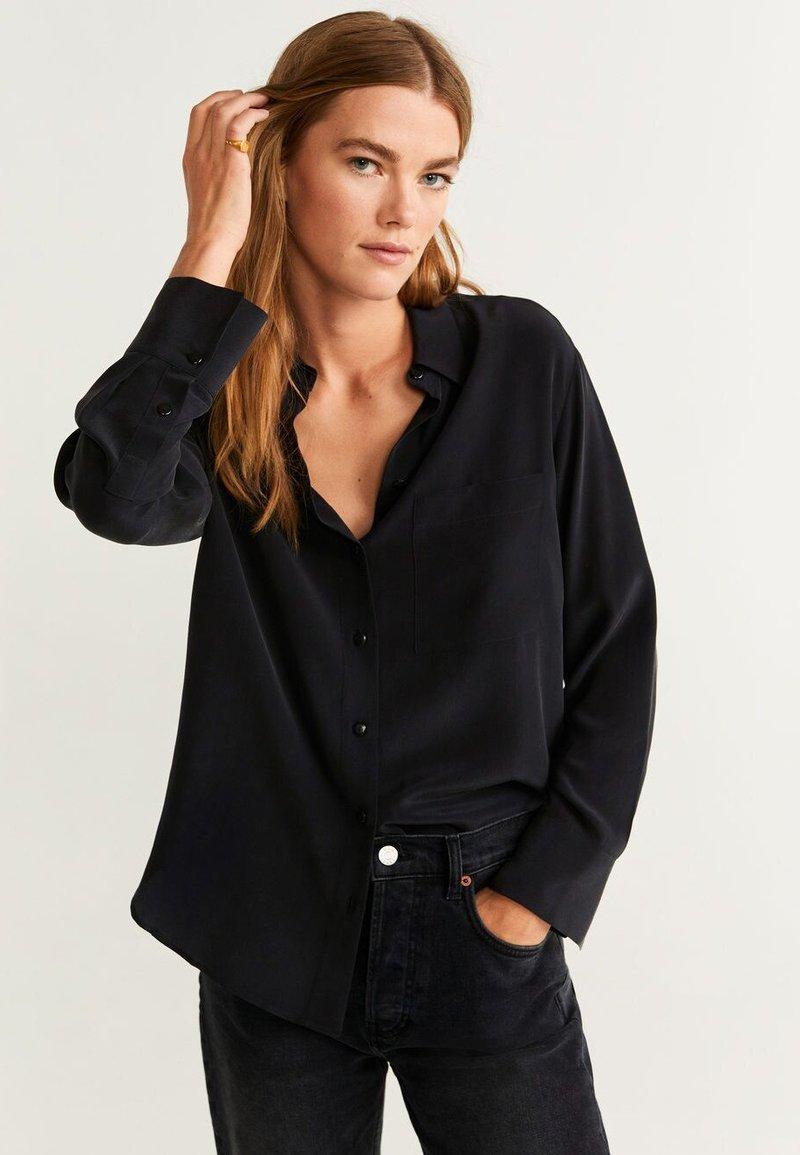 Mango - SEDI - Button-down blouse - black