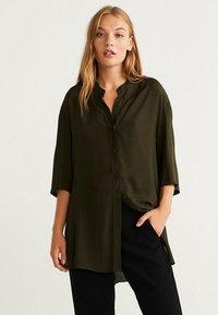 Mango - RUTH - Button-down blouse - khaki - 0