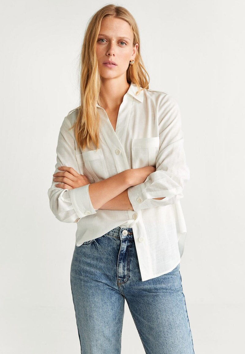 Mango - BEN - Button-down blouse - off-white