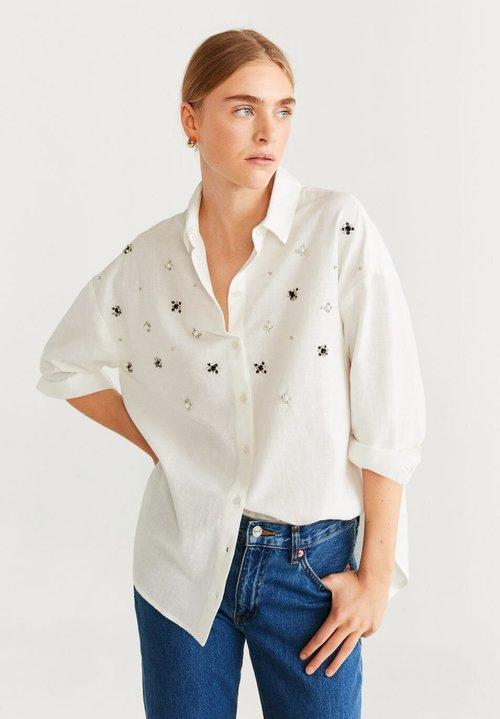 Mango ANNA - Koszula - white Odzież Damska VWBT-ZM5 dobra jakość