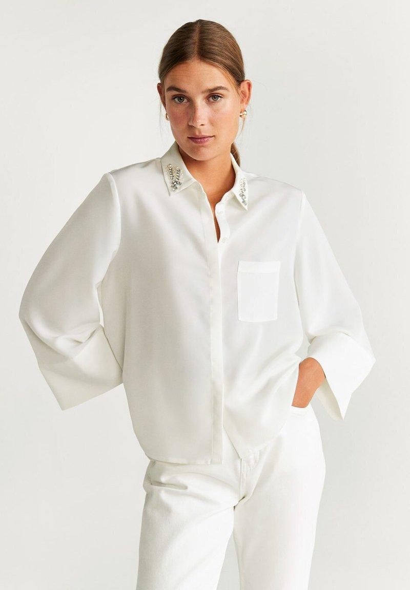 Mango - DIAMOND-A - Skjorte - creamy white