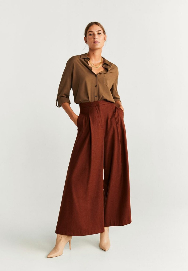 Mango - ARABY - Button-down blouse - camel