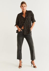 Mango - CERCLE - Button-down blouse - black - 1