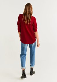 Mango - BOW - Blouse - red - 2
