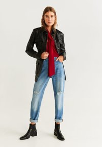 Mango - BOW - Blouse - red - 1