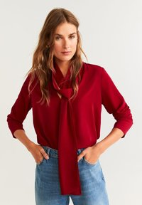 Mango - BOW - Blouse - red - 0