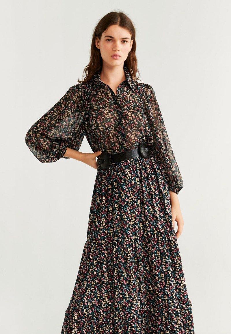 Mango - SENA - Button-down blouse - black