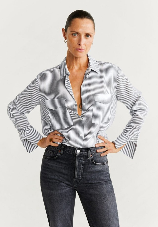 VALEN - Button-down blouse - gray