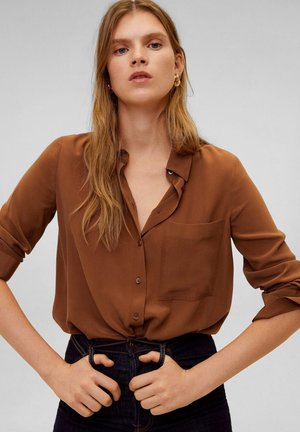 TIVOLI - Button-down blouse - brown