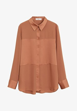 BIMA - Button-down blouse - rotbraun