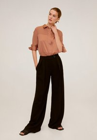 Mango - BIMA - Button-down blouse - rotbraun - 1