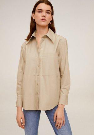 GIANA - Button-down blouse - beige