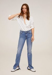 Mango - SATINI - Button-down blouse - cremeweiß - 1