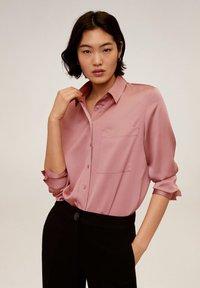 Mango - SATINI - Button-down blouse - rosa - 0