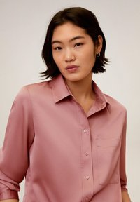 Mango - SATINI - Button-down blouse - rosa - 3