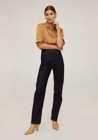 Mango - SATINI - Button-down blouse - okker - 1