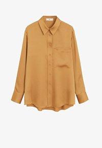 Mango - SATINI - Button-down blouse - okker - 4