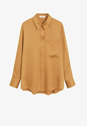 SATINI - Button-down blouse - okker