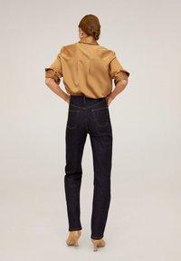 Mango - SATINI - Button-down blouse - okker - 2