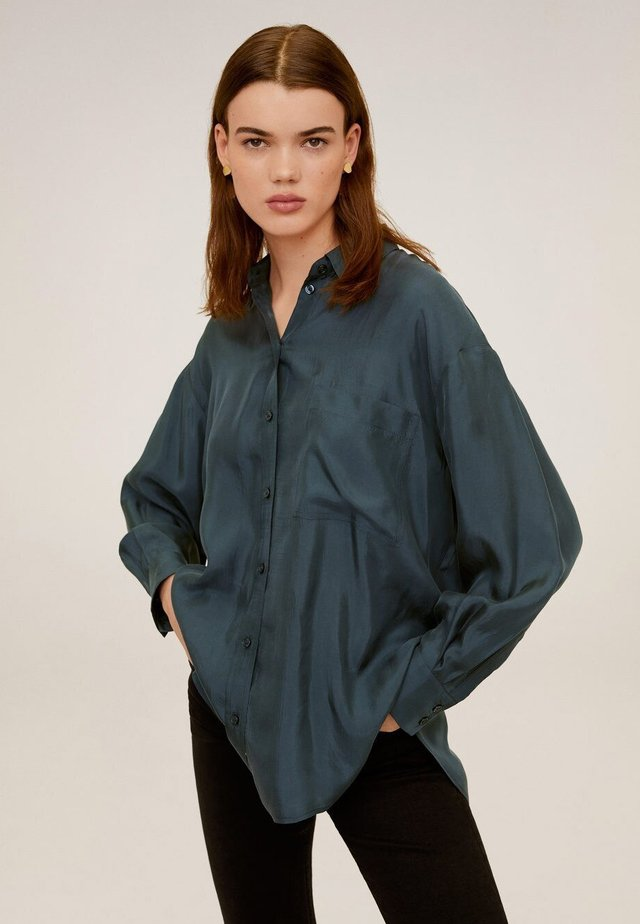 GRETITA - Button-down blouse - grün