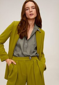 Mango - GRETITA - Button-down blouse - khaki