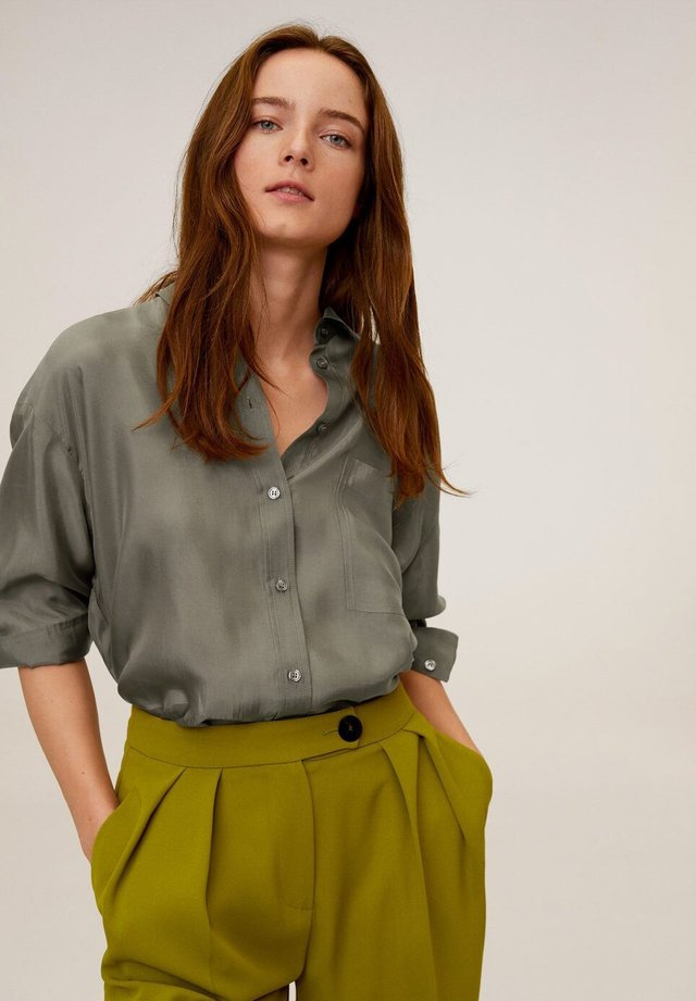 GRETITA - Button-down blouse - khaki